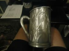 Vintage Everlast Hand Forged Aluminum Bamboo Embossed Design Pitcher B35