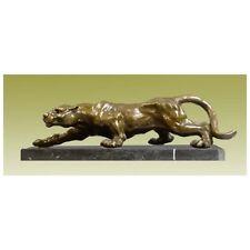 Wundervolle TIER Bronze SCHLEICHENDER PANTHER Jagd