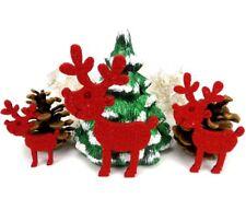 Elch Bruno aus Filz, 3er Set, Weihnachten, Geschenk, Dekoration, Tischdeko, Rot