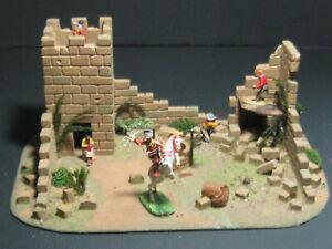 """ Fort (Alamo ?) ""  für 4 cm Elastolin, Timpo und andere  incl. Figuren"
