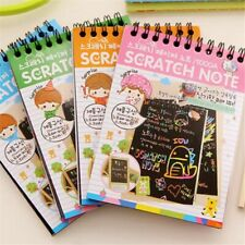 Scratch Sketch Art Notes Rainbow Scratch Magic Doodle Note Gift For Girls Boys