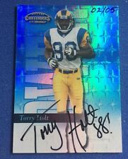 1999 Torry Holt Playoff Contenders Power Blue Auto RC #d 2/5, SSP Buyback Rookie