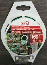 1161PDQ Bond Manufacturing 4 in. W Green Ties Coated Wire 2 Pack