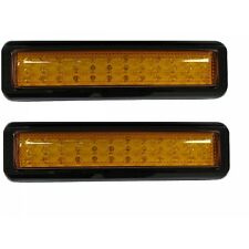 Pair LED Indicator Lights Amber New 12/24 Volt Water Dust Proof 400mm Wire