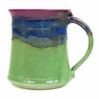 Clay In Motion Handmade Ceramic Medium Mug Coffee Cup 16 oz - Mossy Creek