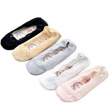 5 Pairs Women Summer Slipper Socks Ladies Invisible Boat Sock Girls Low Socks TP