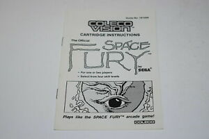 Space Fury ColecoVision Video Game Manual Only