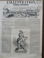 L'ILLUSTRATION 1851 N 437 STATUE DE JEANNE HACHETTE, par DUBRAY, à BAUVAIS