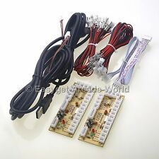 New USB Encoder PC Game Board To Arcade Stick Cables & Sanwa Stick + Buttons DIY