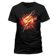 Justice League The Flash Logo Black Official Movie Unisex T-Shirt