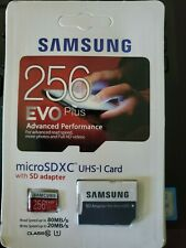 Samsung 256GB EVO Plus Micro SDHC UHS-1 Memory Card with SD Adapter USA Seller