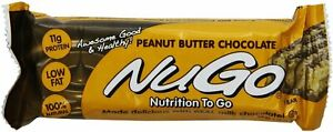 NuGo Family Bar by NuGo, 15 Bars Peanut Butter Chocolate