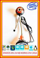 Webcam 12 MPX USB + microfono Instalación automática Windows 7 8 10 LINUX MAC IO