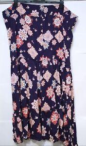 Capsule Petite Print Crinkle Maxi Skirt Purple Size UK 32 VR43 015
