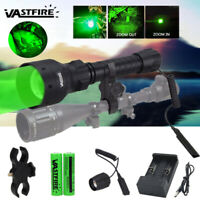 500 Yard Zoom T50 Red Green LED Flashlight Predator Varmint Hog Hunting Light