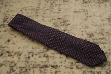 Drake's London purple stripe grenadine tie 100% silk England Barney's New York