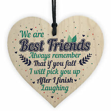 Best Friend Novelty Wooden Heart Sign Christmas Gift For Friend Thank You Gifts