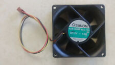 Brushless Box Fan 12VDC 130mA 80mm x 80mm x 25mm KDE1208PTB3-6A 3200RPM TachOut