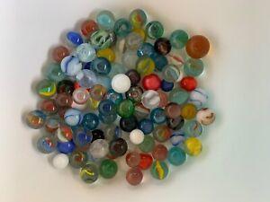 Vintage glass Marbles lot. Estate find. Near mint. Cats eyes, slag etc…
