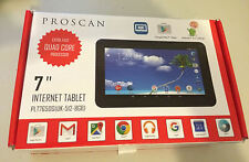 "Proscan 7650G 7"" Tablet Android 5.1 Lollipop Quad Core 8GB Camera SD Slot B75"