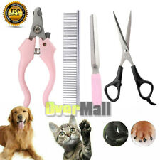 4in1 Pet Grooming Tools Kit Clippers Scissors Set for Dog Cat Hair Nail Trimmer