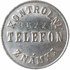 Telephone test token - 3-04.1.2.1 - Czech - Kontrolni Znamka Telefon - CuNi