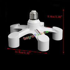 E27 Lámpara Luz Adaptador Bulb Socket Holder Base Splitter 5 en 1