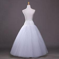 White No-Hoop Petticoat/Underskirt/Slip Crinoline Prom/Wedding Dress Accessories