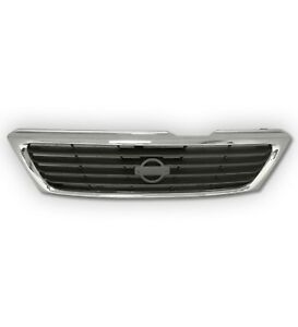 Fits 1995-1997 Nissan Sentra 200SX Chrome & Gray ABS OE Replacement Grille Shell