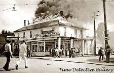 Cascade Hotel on Fire, Granite Falls, Washington - 1933 - Historic Photo Print