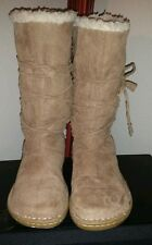 Airwalk Mid-Calf Camel Suede Boots w/ Fur Lining Size 6.5 M