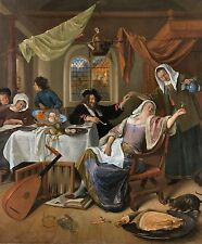 The Dissolute Household by Jan Steen 1663 Dutch Old Masters 13x16 Art Print