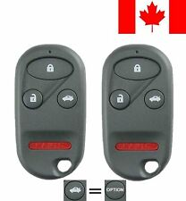 2x New Replacement Keyless Entry Remote Control Key Fob For Honda A269ZUA101