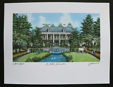 """""""Le Petit Versailles"""", print by Jim Blanchard, signed and titled"""