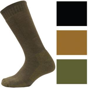 Mid-Calf Tactical & Military Boot Socks Army Cushioned Acrylic Nylon Spandex