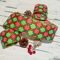 Gift Wrap Red Luxury Ribbon Wide 63mm Christmas Wire-Edged