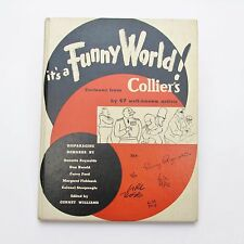It's a Funny World from Collier's 1943 Its Antique SCARCE 40's Comic Cartoon HTF