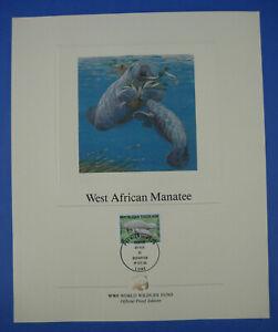 World Wildlife Fund WWF West African Manatee Togo 105F Stamp Proof Edition