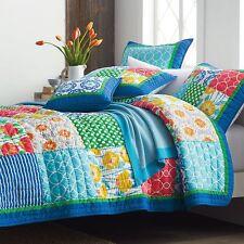 Artiz Home Handmade Quilt Set 3pcs Bedspread Sham Floral Patchwork Sale