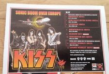 KISS Sonic Boom over Europe 2010 UK magazine ADVERT / mini Poster 8x6 inches