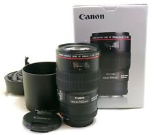 Canon 100mm f/2.8 L Macro IS USM lens EF mount for EOS boxed MINT