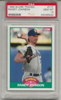 1989 SCORE TRADED #77T RANDY JOHNSON, PSA 10 GEM MINT,  RC, HOF,SEATTLE MARINERS