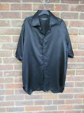 Gary Anderson Saville Row Men's Black Silk Short Sleeve Shirt