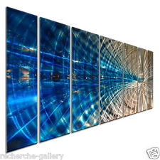 Contemporary Painting on Metal Wall Sculptures by Ash Carl Modern Home Décor