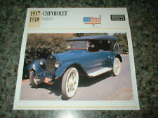 ★★1918 CHEVY SERIES D TOURING SEDAN INFO SPEC SHEET PHOTO PICTURE 18 17 288★★