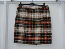 M&Co Boucle Skirt Brown and Ivory Lined Winter Size 14 (139)