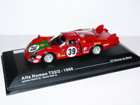 24H25M voiture 1/43 IXO Altaya 24 Heures Mans : ALFA ROMEO T33/2 1968 #39 Giunti