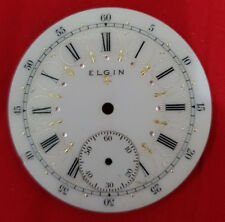 Elgin Enameld Dial Pocket Watch Diameter 42Mm