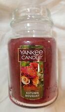 Yankee Candle AUTUMN BOUQUET Large Jar 22 Oz New Housewarmer Cinnamon Patchouli