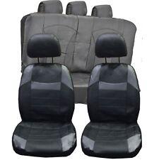 VW Golf MK4 MK5 MK6 MK7 UNIVERSAL BLACK & Grey PVC Leather Look Car Seat Covers